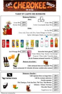 snack bar menus